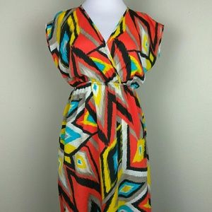 Soprano Sleeveless Medium Multicolored Dress